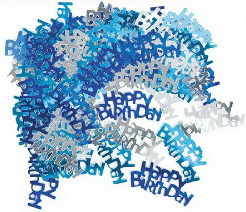 Table Confetti - Happy Birthday - Blue 14g