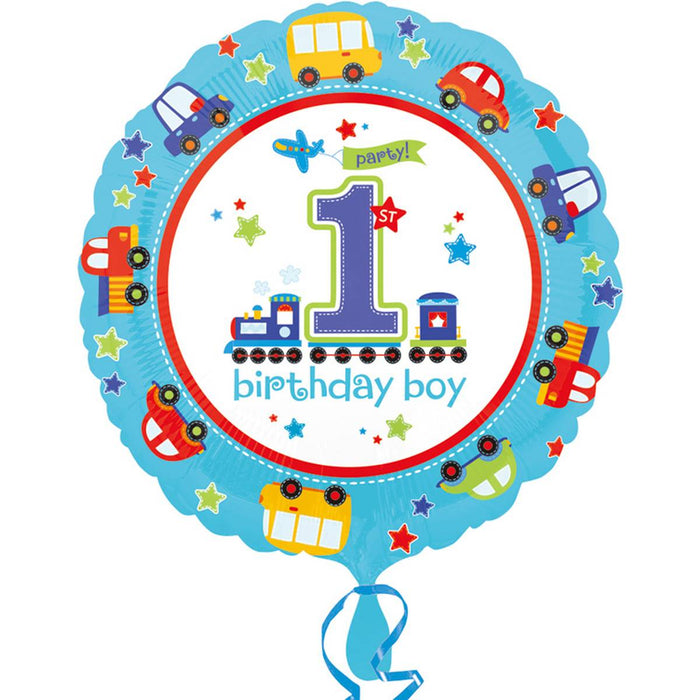 All Aboard 1st Birthday Balloon Foil
