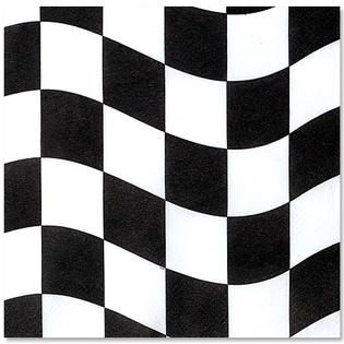 Lunch Napkin 2 Ply Black & White