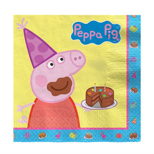 Lunch Napkins - Peppa Pig Cake - 16pk