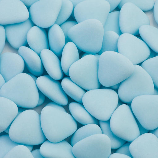 Dark Chocolate Dragees - Heart Shape Blue - 1kg