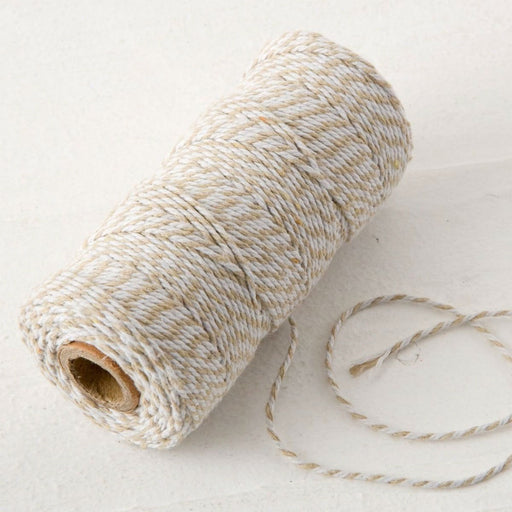 Baker's Twine - Beige and White - 100mt
