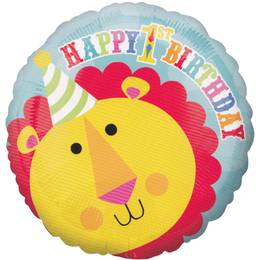 Circus Time 1st Birthday Lion Balloon