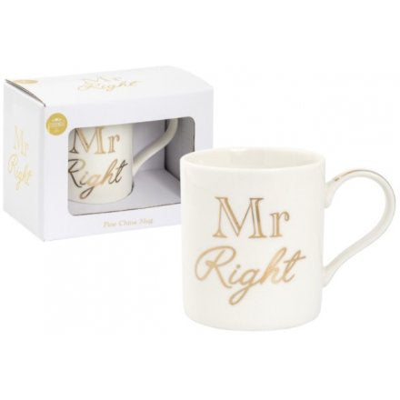 Mug - Mr Right - Gold & White