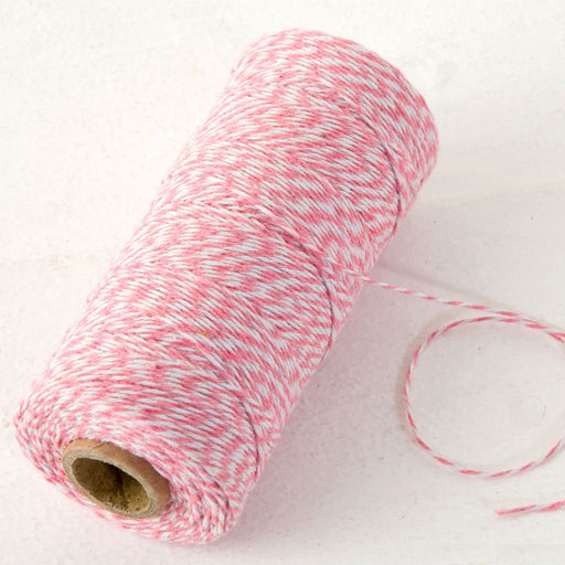 Baker's Twine - Pink and White - 200mt