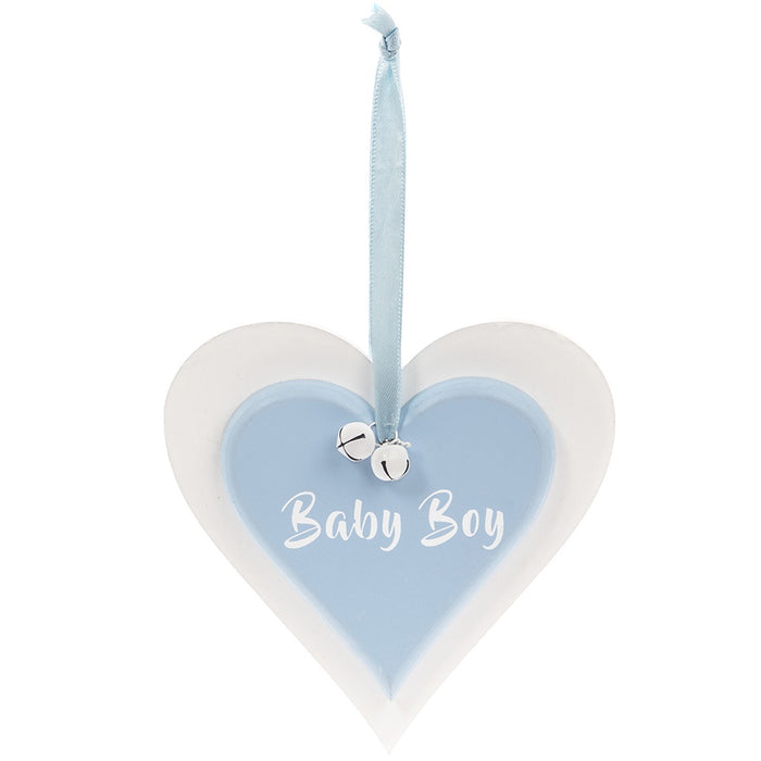 Plaque Double Heart - Baby Boy