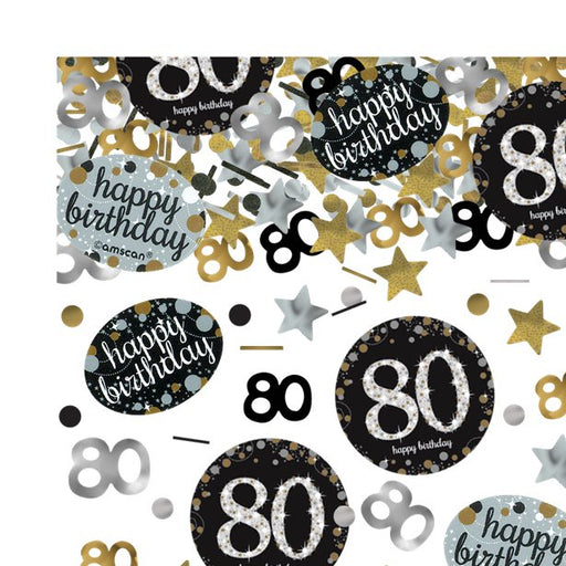 Table/Invites Confetti - Sparkling Celebration Age 80 - 34g