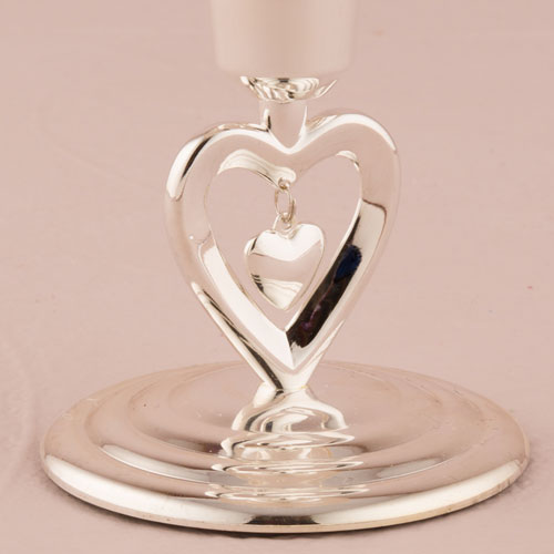 Suspended Heart Taper Candle Holders Setx2