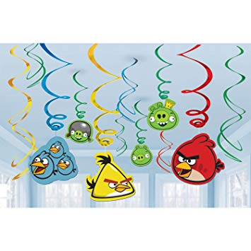 Angry Birds Hanging Decorations - Hanging Swirls