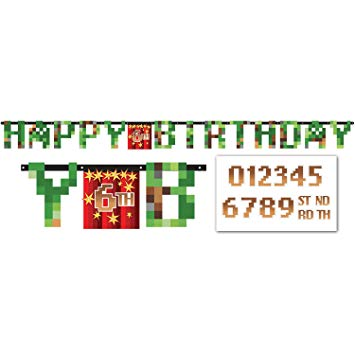 TNT Minecraft Party Jumbo Letter Banner