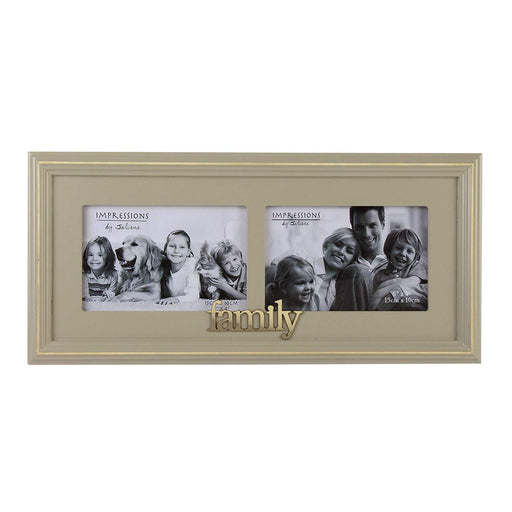 "Frame Wooden Double Photo 6"" x 4"" - Family"