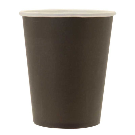 Paper Cups - Black - 265ml (8pk)