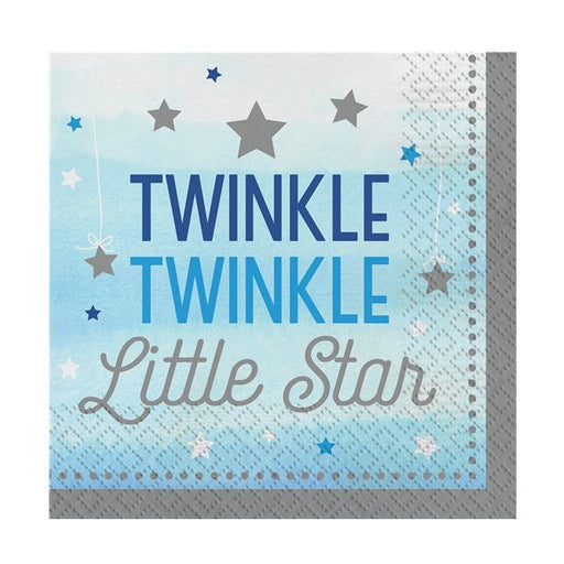 Lunch Napkins - One Little Star - Twinkle Twinkle Boy