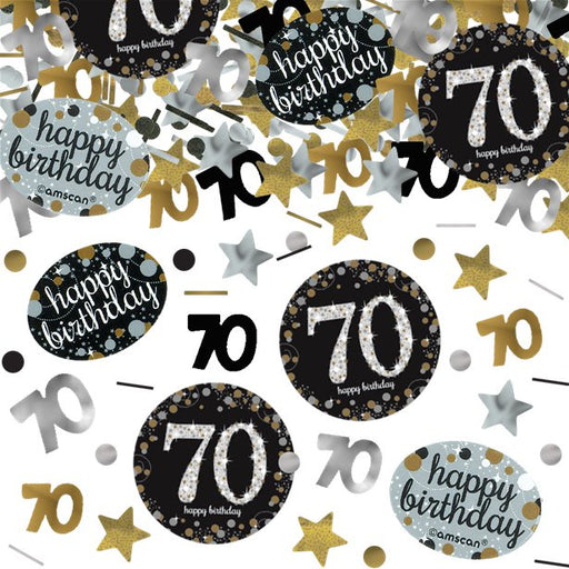 Table/Invites Confetti - Sparkling Celebration Age 70 - 34g