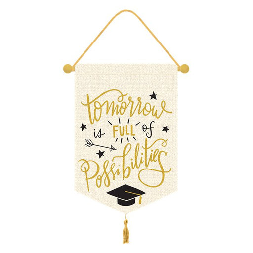Graduation Hanging Canvas Banner - 33 x 38cm