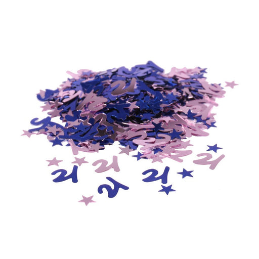 Table Confetti - 21st Birthday - Blue 14g