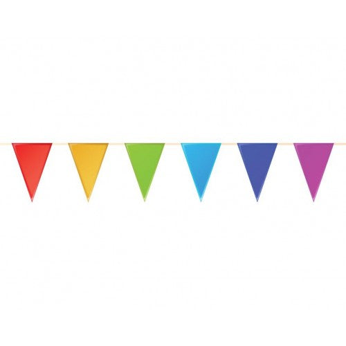Mini Plastic Bunting Multicolour - 6m