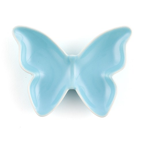Aqua Blue Ceramic Butterfly Dishes / Holders