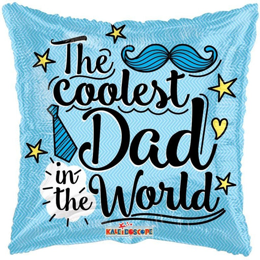 Balloon Foil Square Shape - The Coolest Dad In The World - 18''