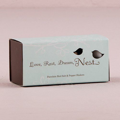 Love Bird Shakers in Blue Box