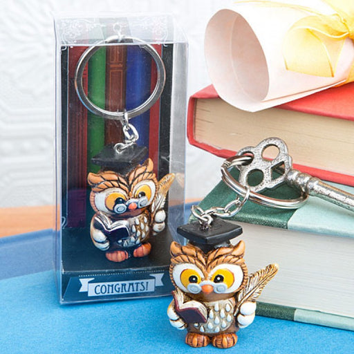 Wise Graduation Owl Key Ring