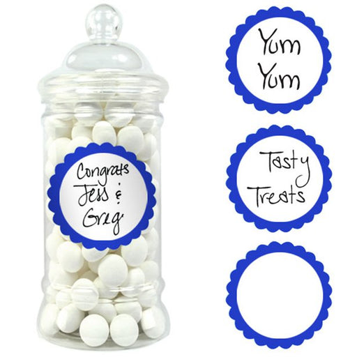 Candy Buffet Labels - Bright Royal Blue - 20pk