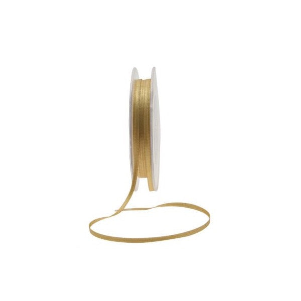 Satin Ribbon - 3mm - Gold