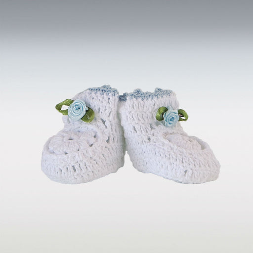 Crochet Baby Bootie - Light Blue