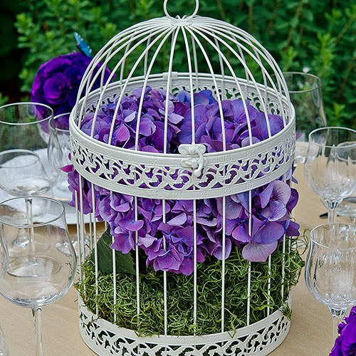 Ivory Classic Round Decorative Birdcage - Rental