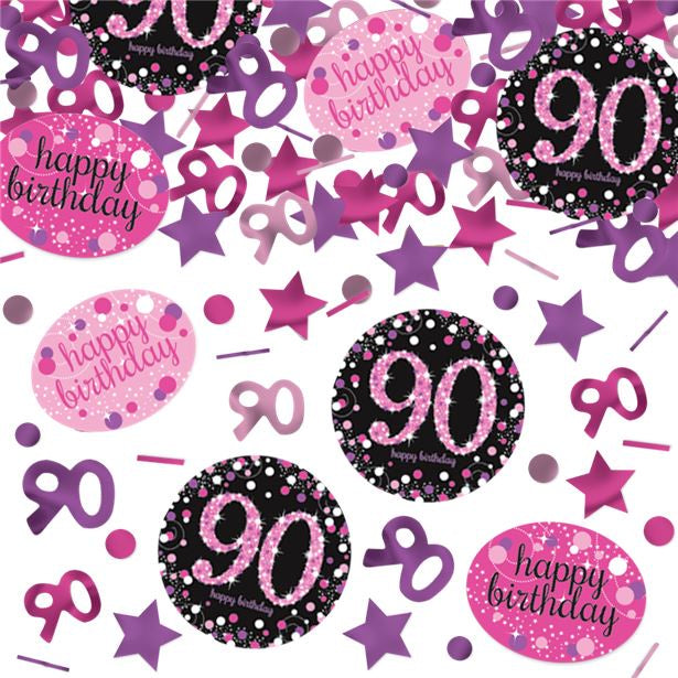 Table/Invite Confetti - Pink Sparkling Celebrations - 90th Birthday