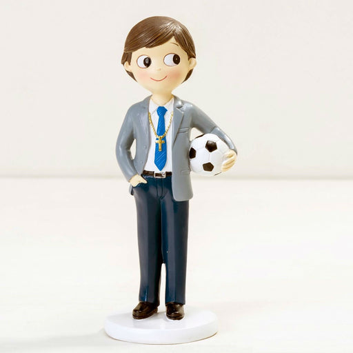 Communion Boy with Football Cake Topper