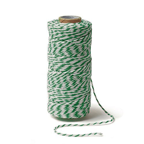 Classical Green Striped Cotton Baker'S Twine