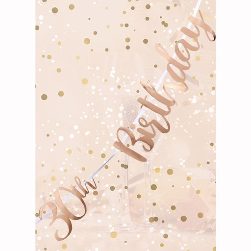 Letter Banner - 30th Birthday - Rose Gold Script
