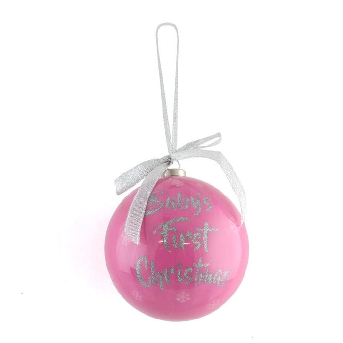 Baby's 1st Xmas - Bauble - Pink