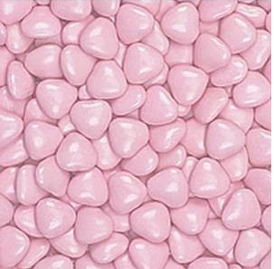 Dark Chocolate Dragees - Pink Little Hearts - 1kg
