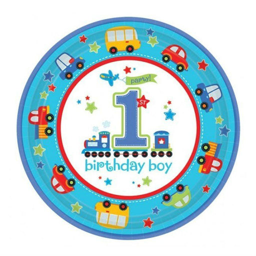 All Aboard 1st Birthday Paper Plates