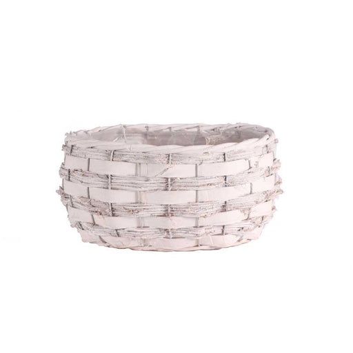 Pickwell Oval Basket - White