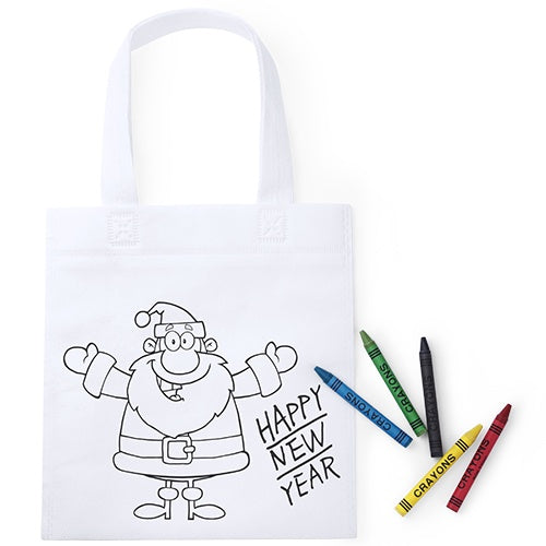 Colour In Christmas Themed Bag