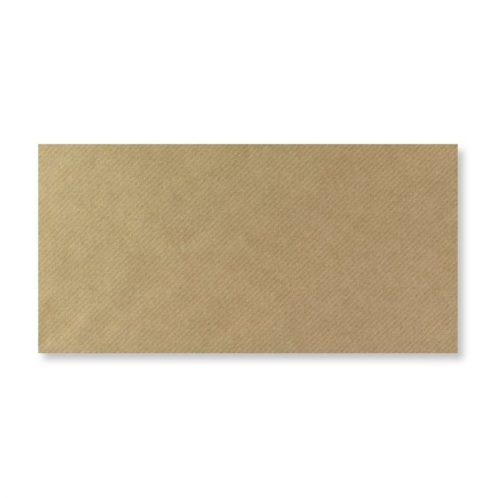 Envelope - Brown Ribbed - DL - 110x220mm