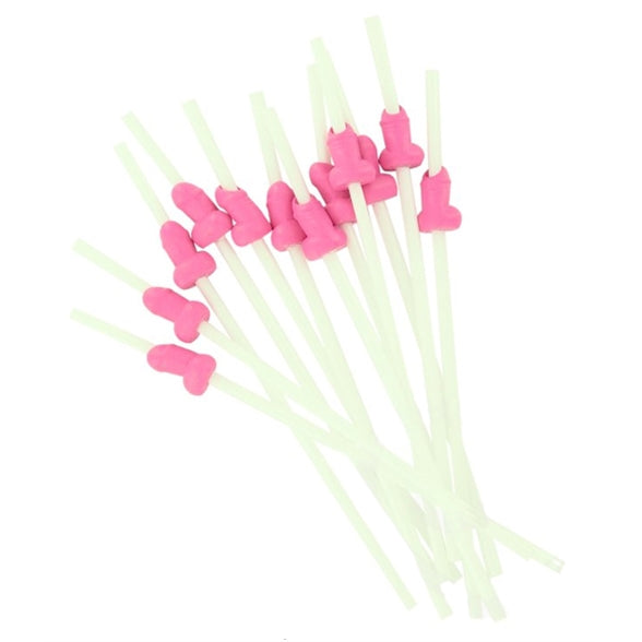 Willy Straws - White Straws with Pink Willies