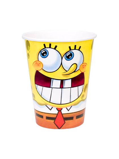 Squarepants Party Spongebob Cups
