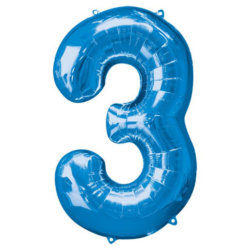Balloon Foil Number - 3 Royal Blue - 34""