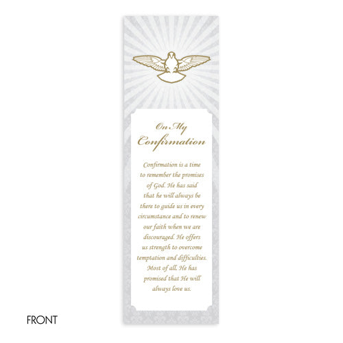 Bookmarks Fill-in - Confirmation - Dove with Rays
