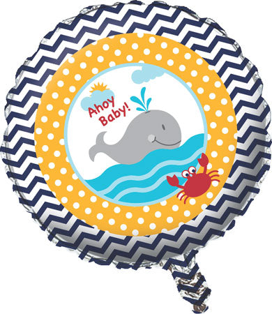 Balloon Foil Round Shape - Ahoy Matey! 18''baby sh