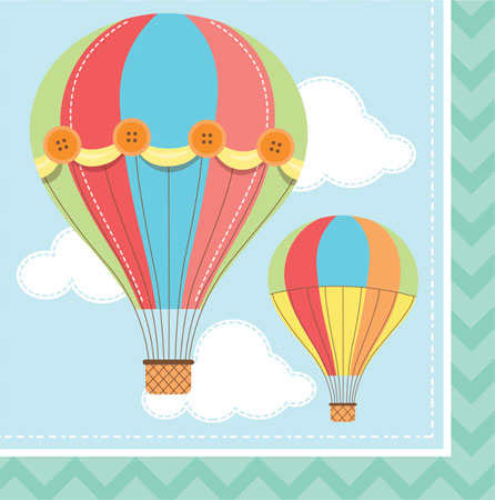 Up Up & Away Lunch Napkins