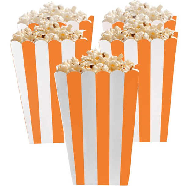Candy Buffet Popcorn Boxes - Orange Peel