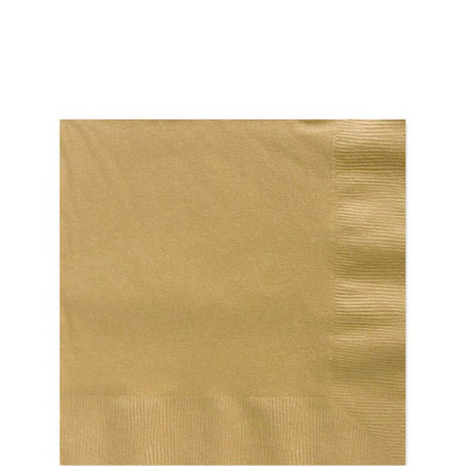 Beverage Napkins - Gold - 20pk