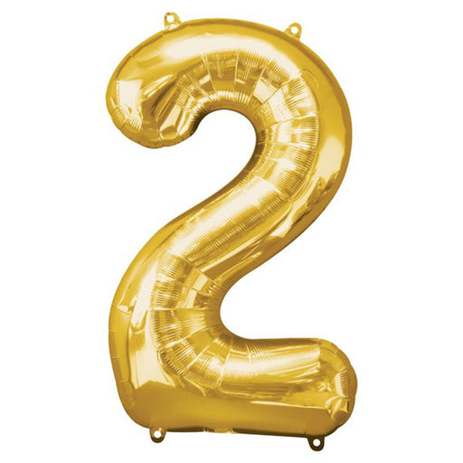 Balloon Foil Number - 2 Gold - 34""