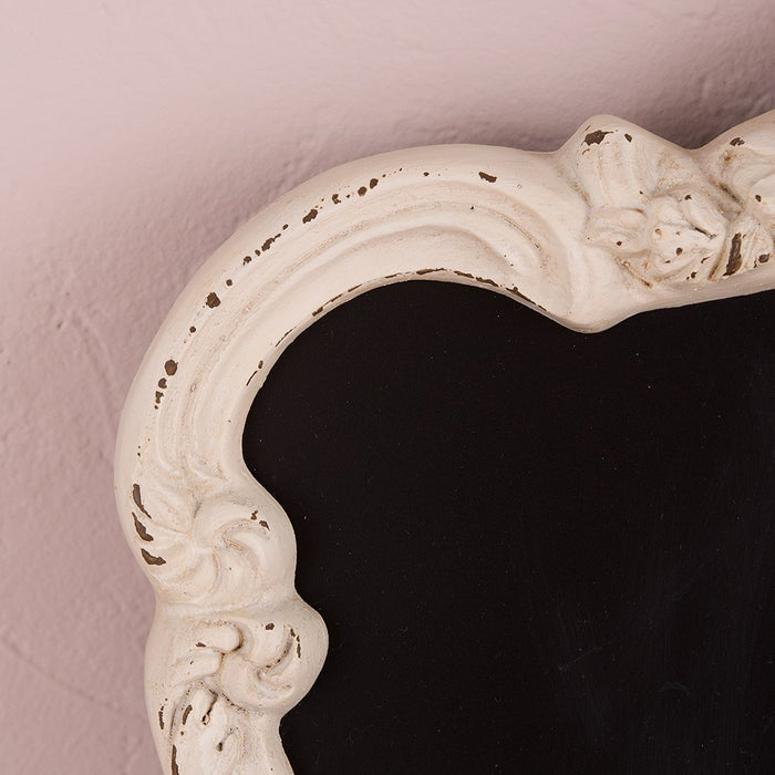 Blackboard In Ornate Vintage Frame In Antique White