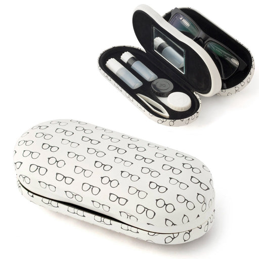 Eyeglasses & Contact Lens Case - Twin Pattern